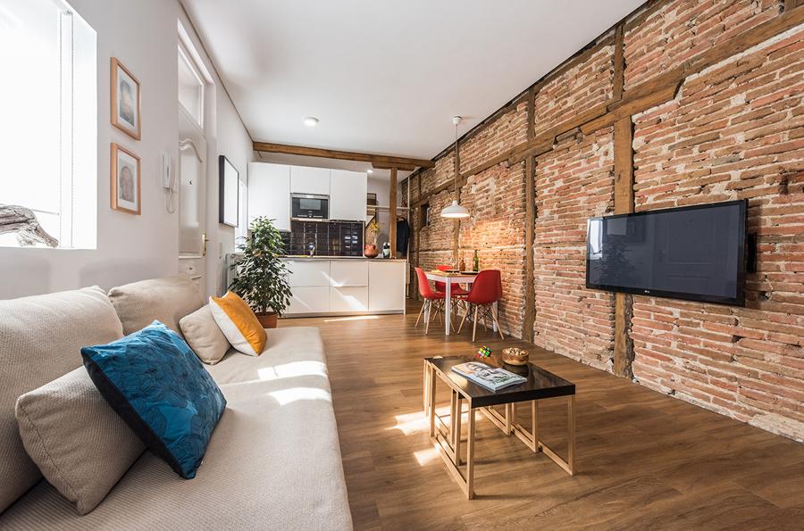 Ladrillo visto c mo aplicarlo en tus paredes y acertar ideas reformas viviendas - Ladrillo visto rustico ...