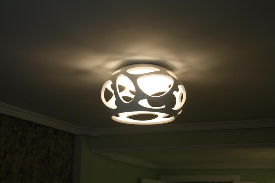 Lampara con bombillas de led regulables