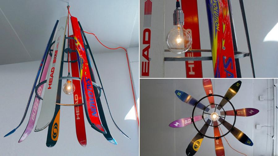 Lámpara con esquís