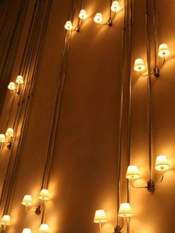 Foto lampara de pared tuberia de 940374 - Lamparas las palmas ...