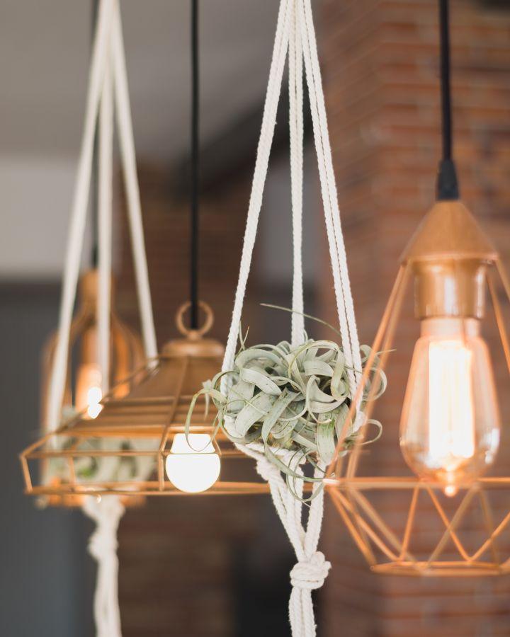 Lámpara de techo y adornos