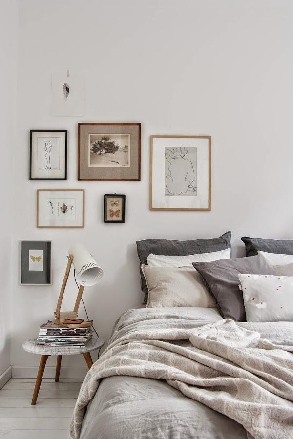 lámpara en dormitorio