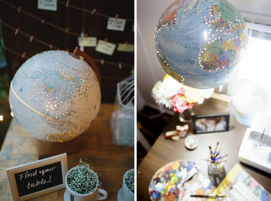 Da la vuelta al mundo sin salir de casa decora con mapas - Globo terraqueo decoracion ...