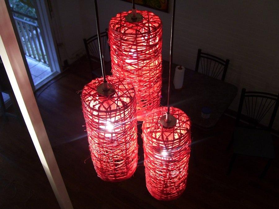 C mo hacer l mparas de hilo de c amo ideas decoradores - Como decorar tulipas de lamparas ...