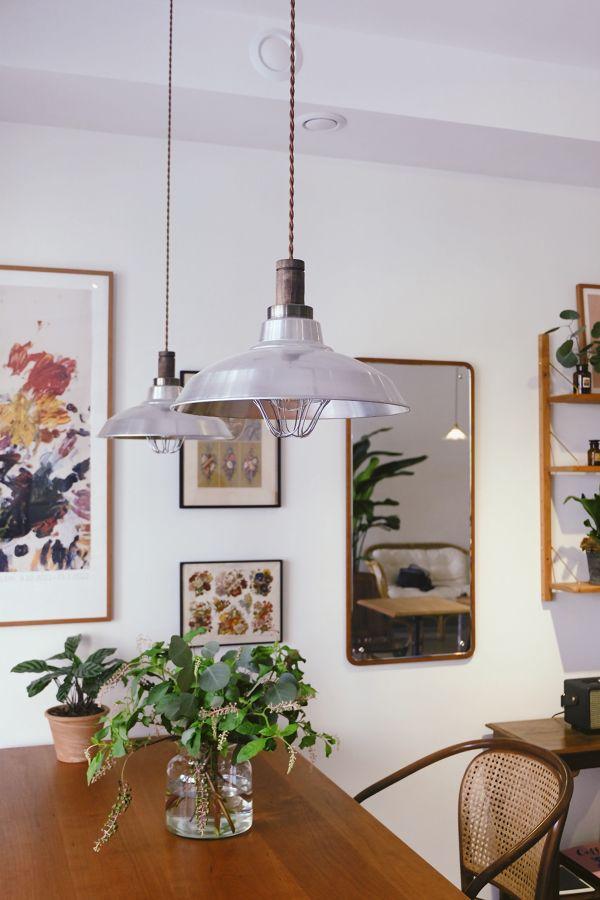 Lámparas en comedor estilo vintage