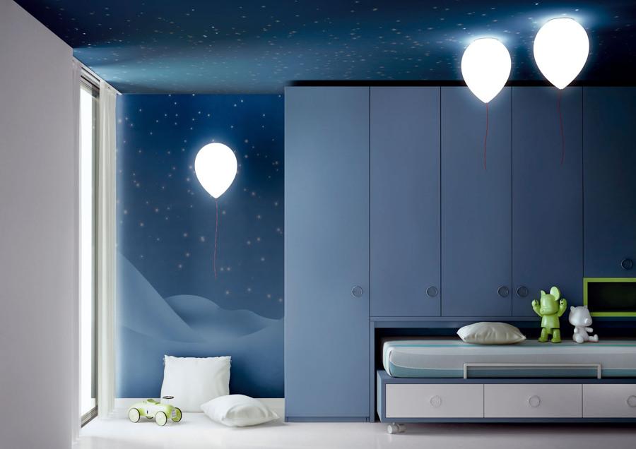 lámparas globo habitación infantil