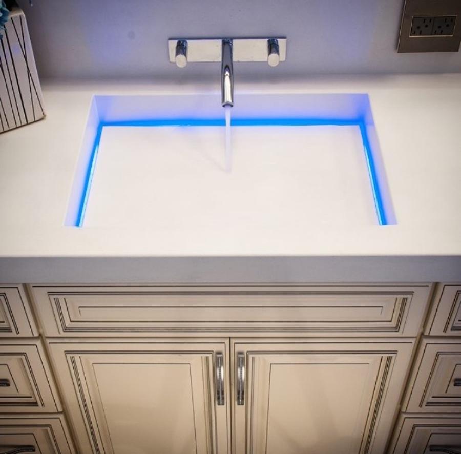 Lavabo con led integrado
