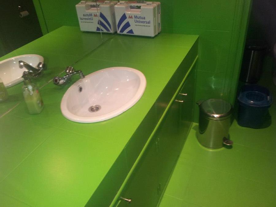 Lavabo  de baño Pintado en verde