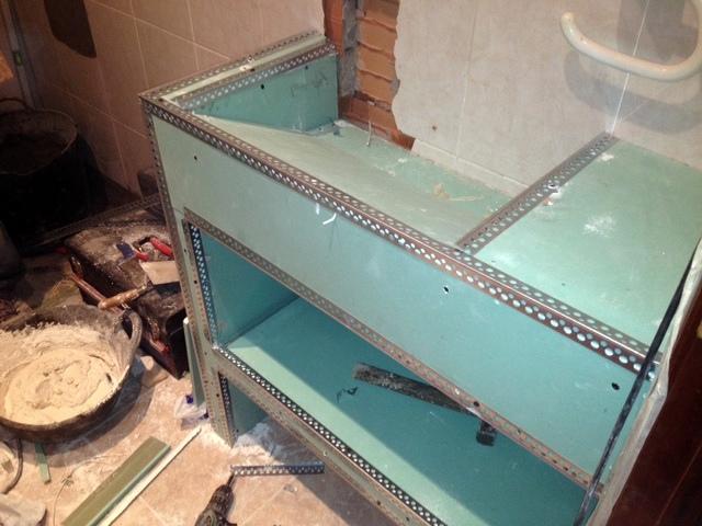 Baño Pequeno Microcemento:Reforma Bano Microcemento