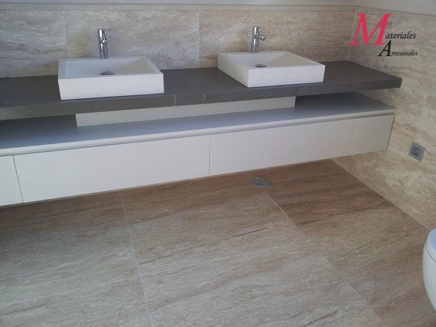 Foto lavabos en piedra caliza de materiales artesanales - Lavabos de piedra ...