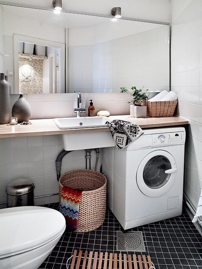 Ideas para integrar una zona de lavado y plancha en tu for Planchas para forrar banos
