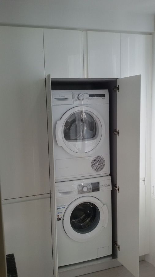 Poner lavadora y secadora en torre trendy imagen with for Mueble lavadora secadora