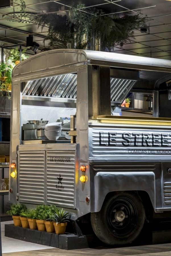 Le Streeter, vista de la food truck