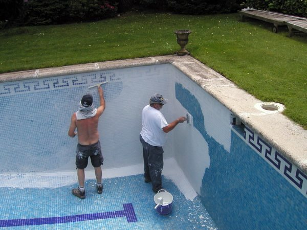 Limpieza y lechadas de piscinas de gresite ideas for Gresite para piscinas