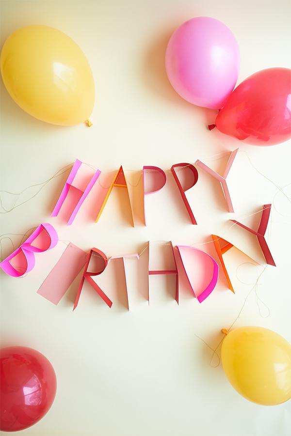 Letras para adornar cumpleaños
