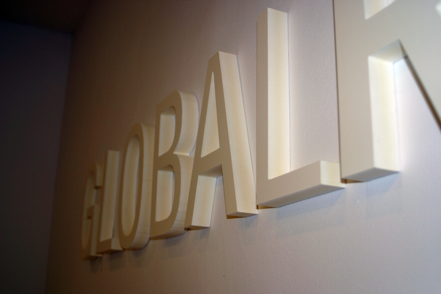 Letras recortadas en PVC 19 mm - Global Red