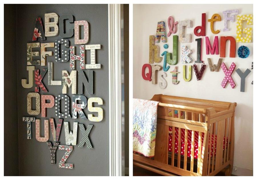 letras decoración niños