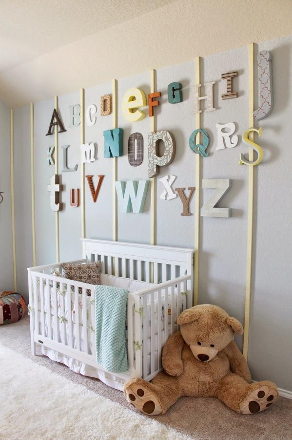 Decora aprende y disfruta con los peques en casa ideas - Decorar paredes con letras ...