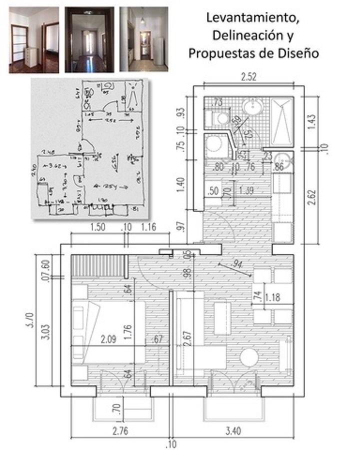 Levantamiento, delineación y propuestas de diseño.