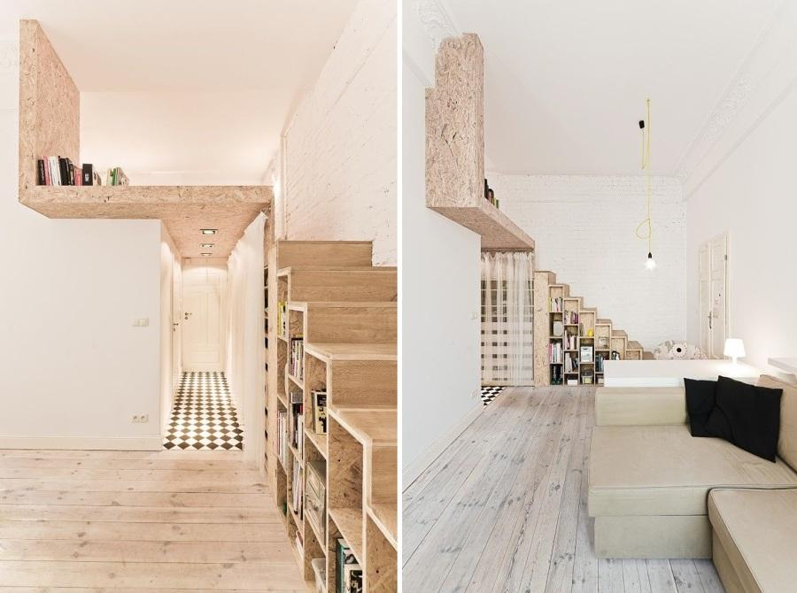 Escaleras para librerias interesting ampliacin de - Librerias con escalera ...