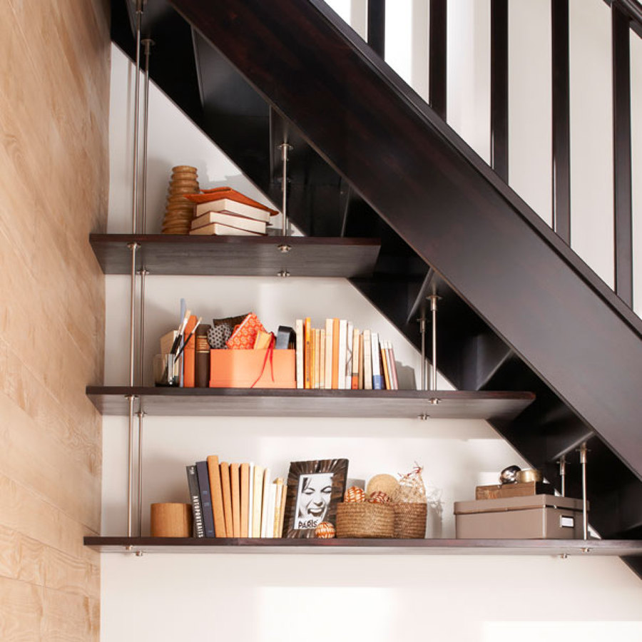 Foto librer a hueco escalera de miv interiores 902653 for Escalera libreria