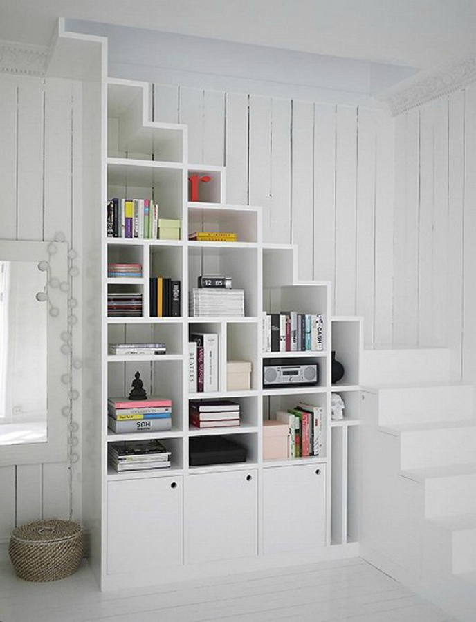 Foto libreria hueco escalera de miv interiores 902655 - Librerias con escalera ...