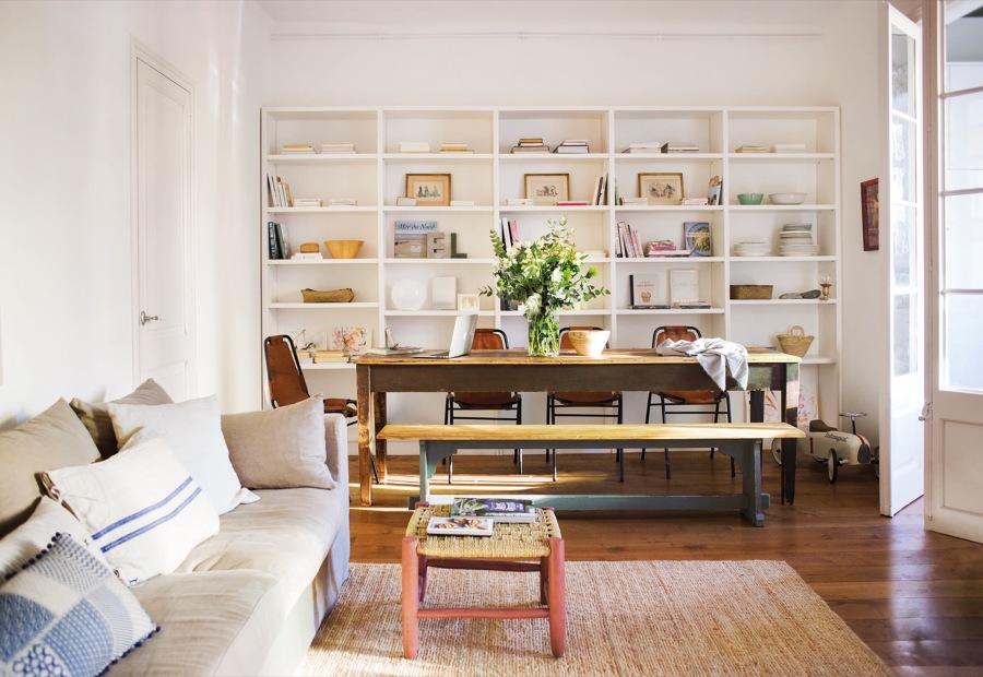 librería modular de madera