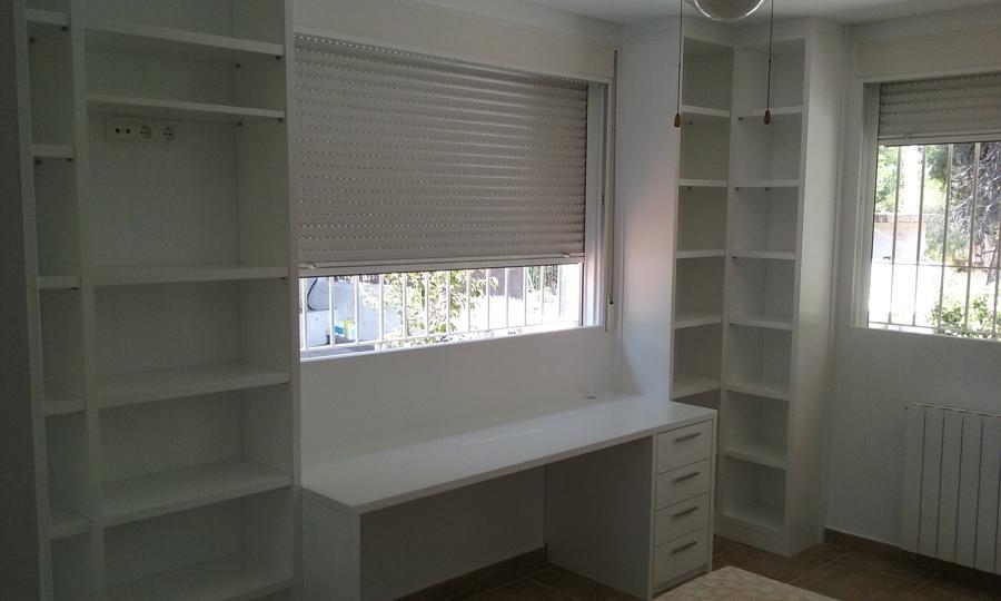 Decoracion mueble sofa librerias lacadas en blanco - Librerias lacadas ...