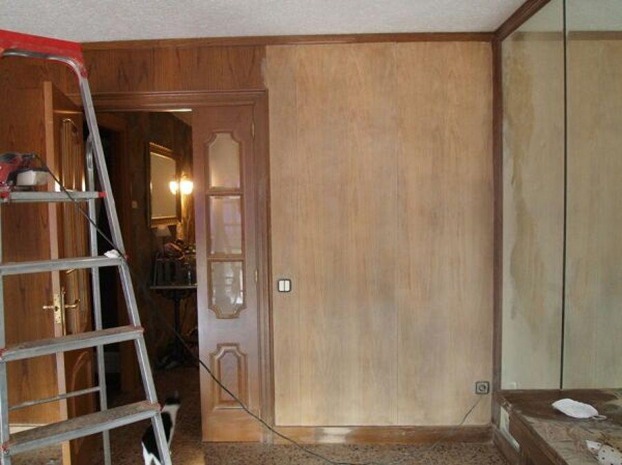 Lijar paredes de madera