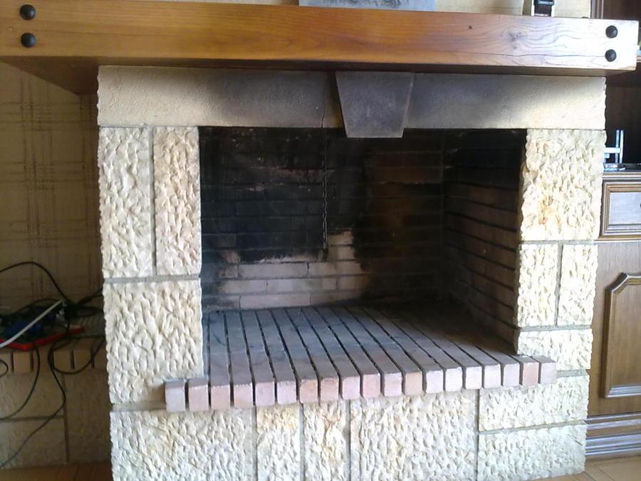 limpieza chimenea abierta de obra clsica