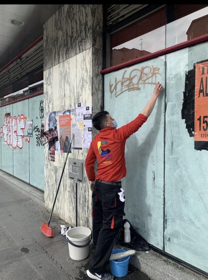 Limpieza de grafitis!