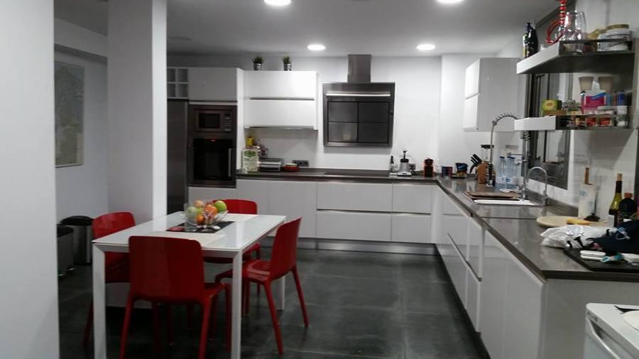 cocina de limpieza