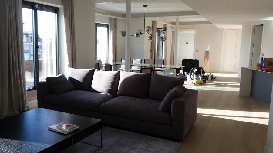 limpieza de la sala de estar