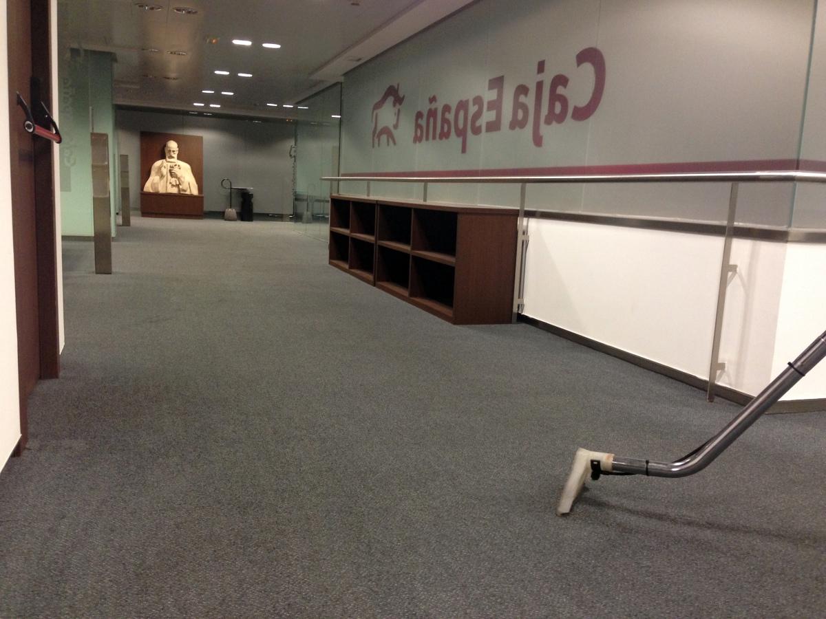 Foto limpieza de moquetas de duque express valladolid for Caja laboral valladolid oficinas