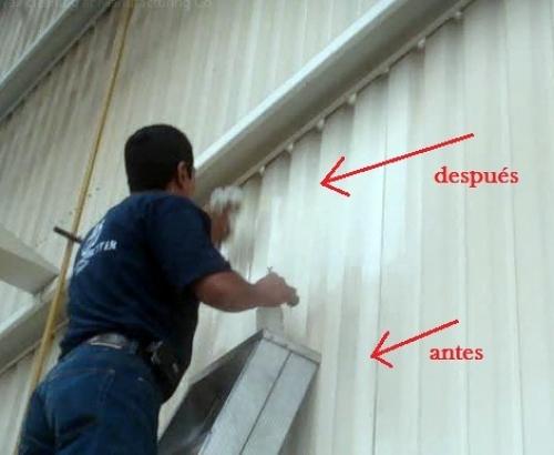 Limpieza de paredes y techos industriales