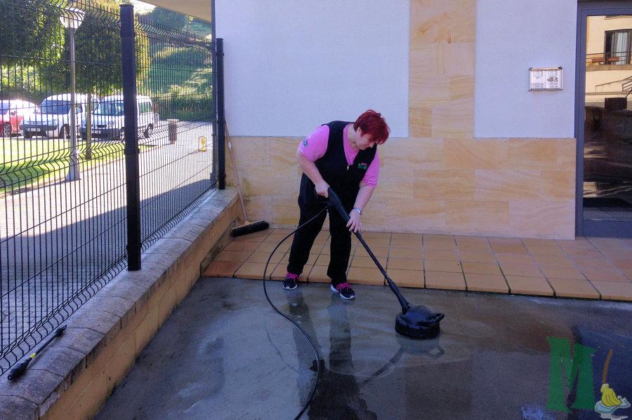 Limpieza de patio