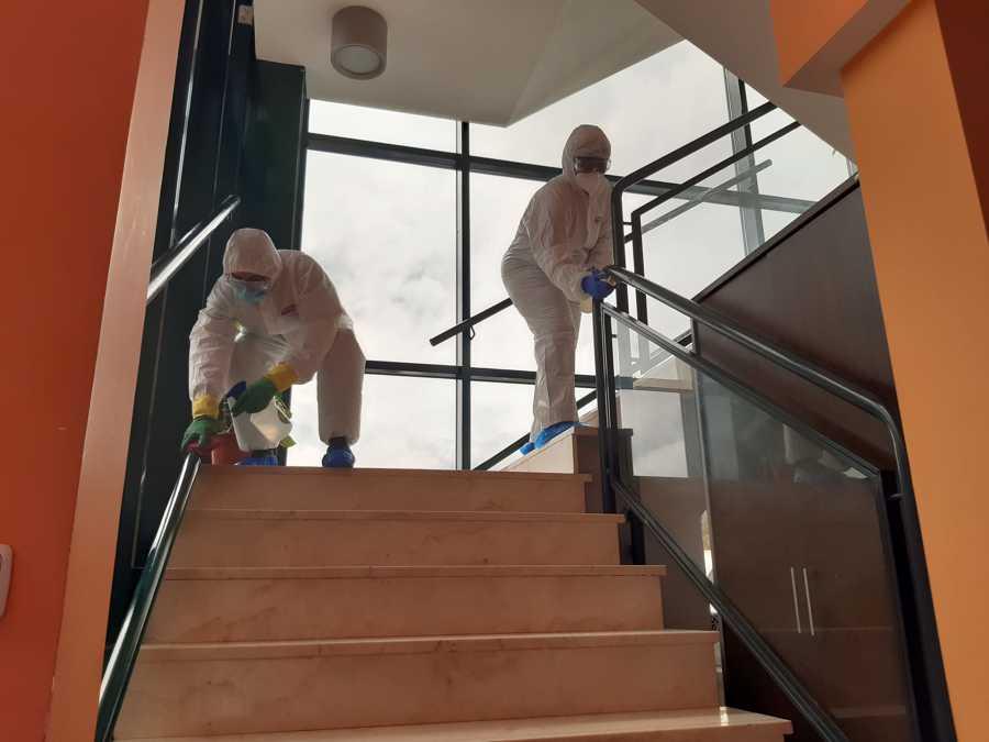 Limpieza escaleras