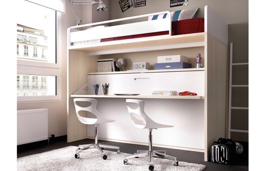Camas ingeniosas para espacios reducidos ideas decoradores - Literas para ninos espacios pequenos ...