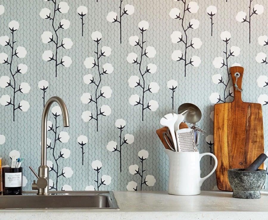 Dale vida a tu piso de alquiler decorando las paredes - Papel pared cocina ...