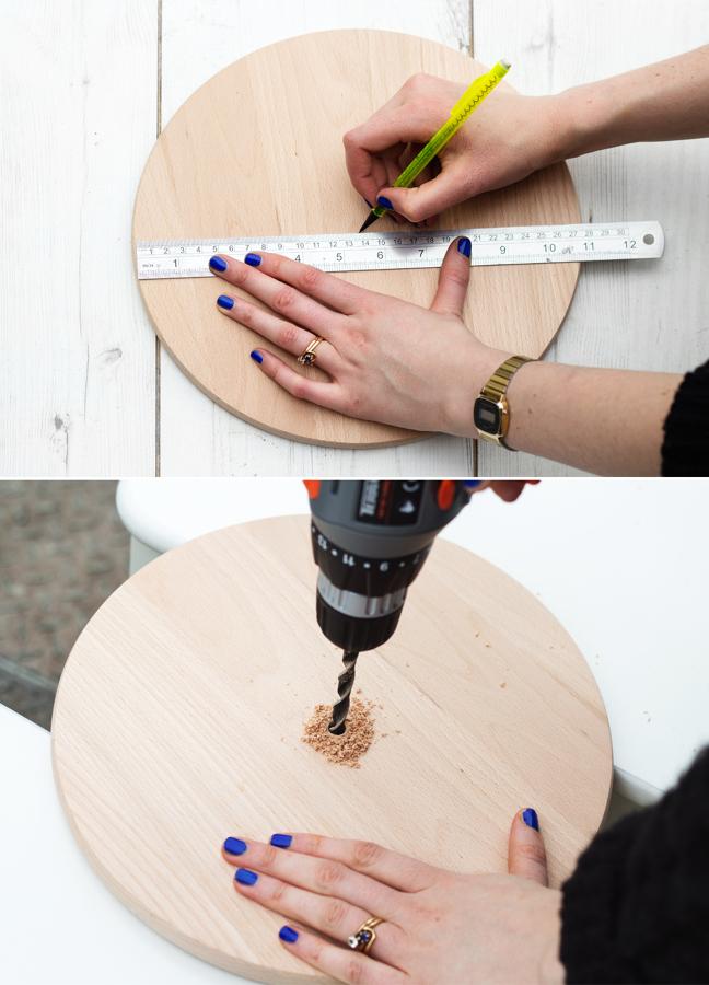 Crea tu propio reloj de pared con este sencillo diy ideas decoradores - Wanduhr selber machen anleitung ...