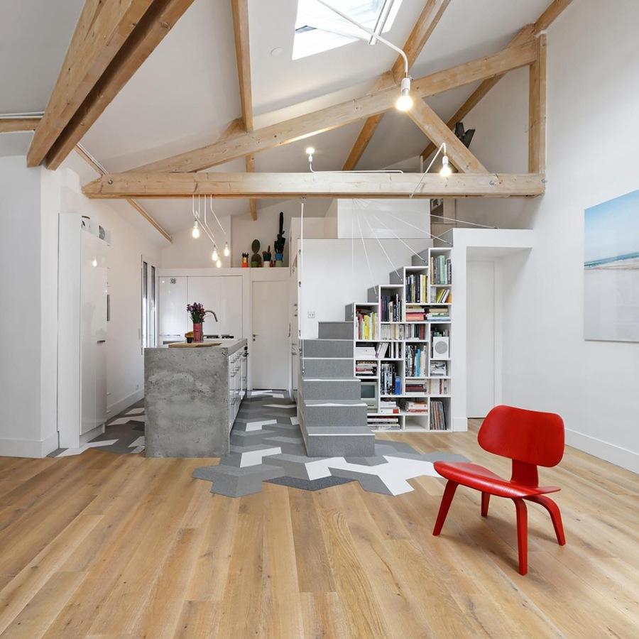 Foto loft con techos de madera de marta 1613743 - Appartement de standing burgos design ...