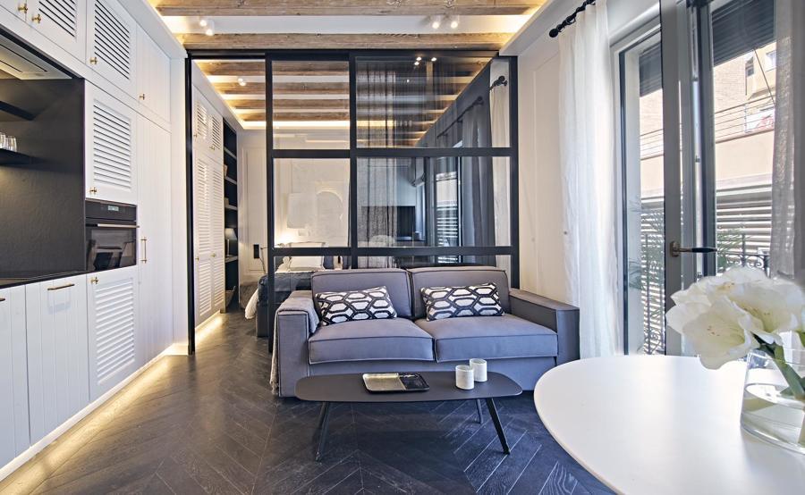 Loft: salón - cocina - habitación