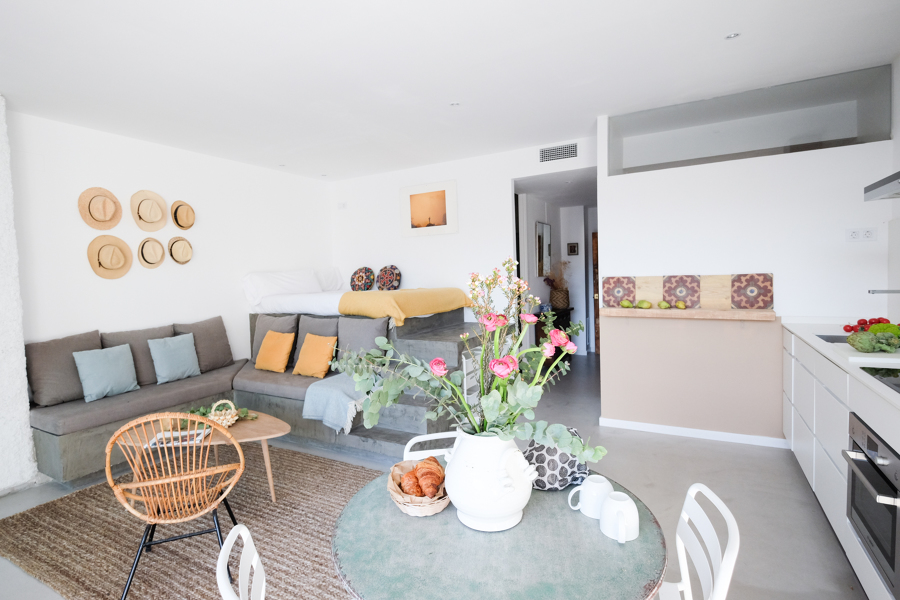 Foto loft sal n comedor cocina dormitorio de mig - Cocina comedor en l ...