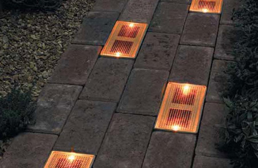 Luz solar de suelo