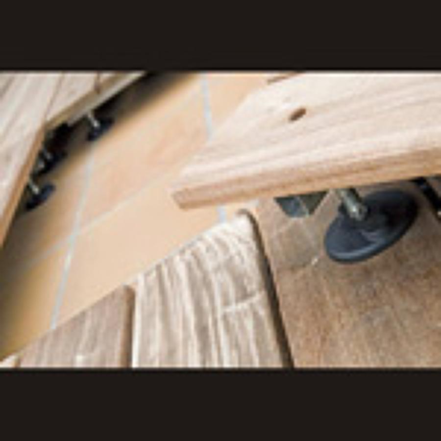 madera con soporte reglable