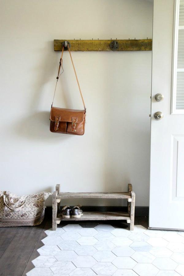 madera y baldosa