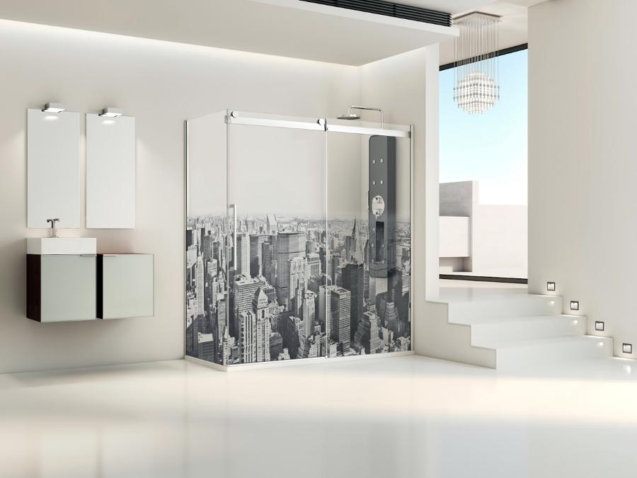 Baño Imagen Mamparas:Foto: Mampara de Baño Modelo Manhattan de Vidrios Y Aluminios