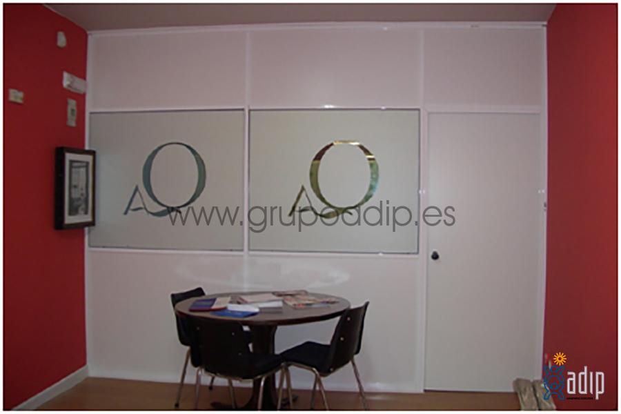 Foto mampara de oficina bilbao de instalaciones adip for Mamparas de oficina sevilla