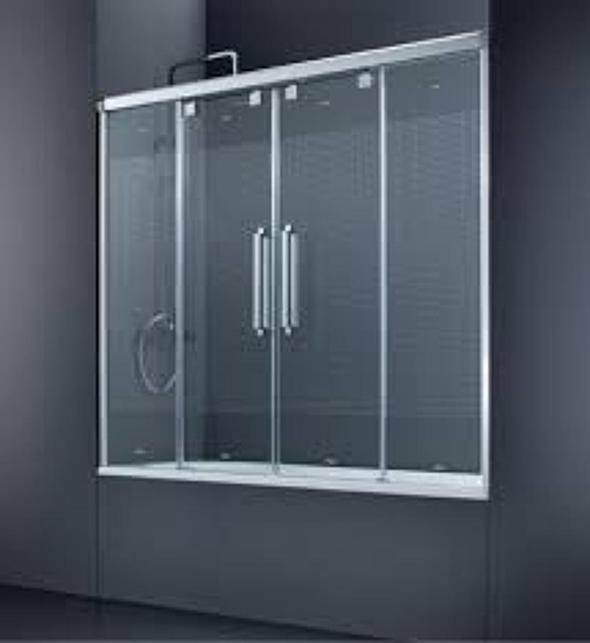 Foto mamparas de ba o de aluminios r l 841906 habitissimo - Paroi de baignoire coulissante ...