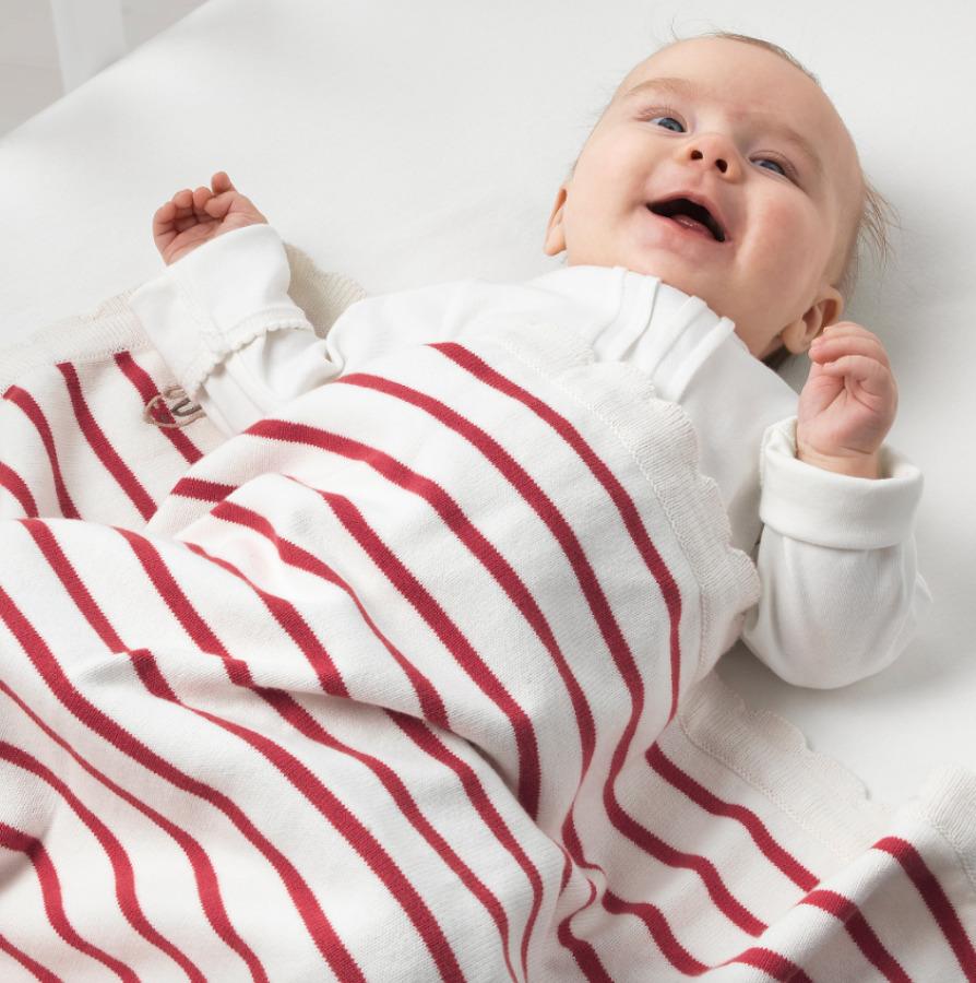 Manta para bebé de algodón sostenible